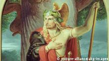 BG Niedergermanischer Limes der Römer Weltkulturerbe | Hermann als Sieger von Wilhelm Lindenschmit um 1839 Ausschnitt