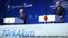Türkei Istanbul Eröffnung TurkStream-Gaspipeline | Wladimir Putin, Russland & Recep Tayyip Erdogan