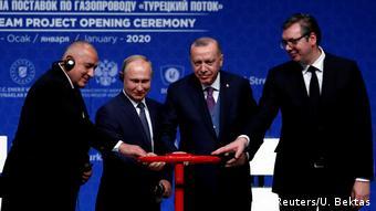 Τα εγκαίνια του αγωγού Turk Stream θεωρούνται σημαντικό ορόσημο στις σχέσεις Τουρκίας-Ρωσίας