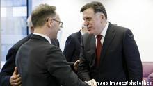 Brüssel Heiko Maas, Außenminister Deutschland & Fayiz as-Sarradsch, Premierminister Libyen