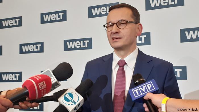 премьер-министр Польши Матеуш Моравецкий в Берлине