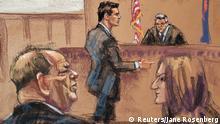 Gerichtszeichnung USA New York City Prozess gegen Filmproduzenten Harvey Weinstein