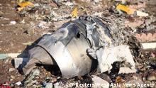 Iran | Überreste des abgestürzten Flugzeugs der Ukraine International Airlines