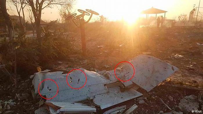 Уламок літака Міжнародних авіаліній України, який упав поблизу Тегерана 8 січня