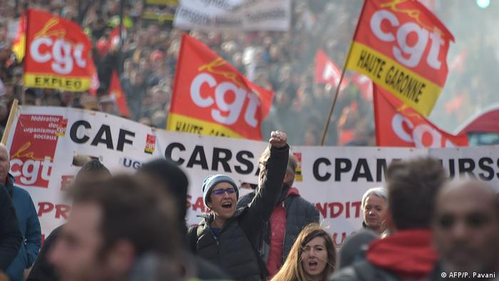 Frankreich Proteste gegen Rentenreform