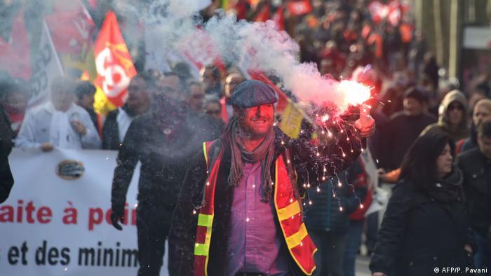 Frankreich Toulouse Proteste gegen Rentenreform