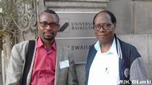 Bayreuth Professor Euphrase Kezilahabi (right) and Hezekiel Gikambi aus Tansania