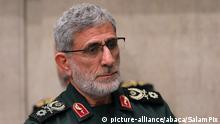 The newly-appointed commander of the Quds Force of the Islamic Revolutionary Guard Corps Esmail Qaani attending a mourning ceremony held by the supreme leader in Tehran for slain top general Qasem Soleimani,Tehran, Iran on January 9, 2020. Handout Photo via SalamPix/ABACAPRESS.COM  