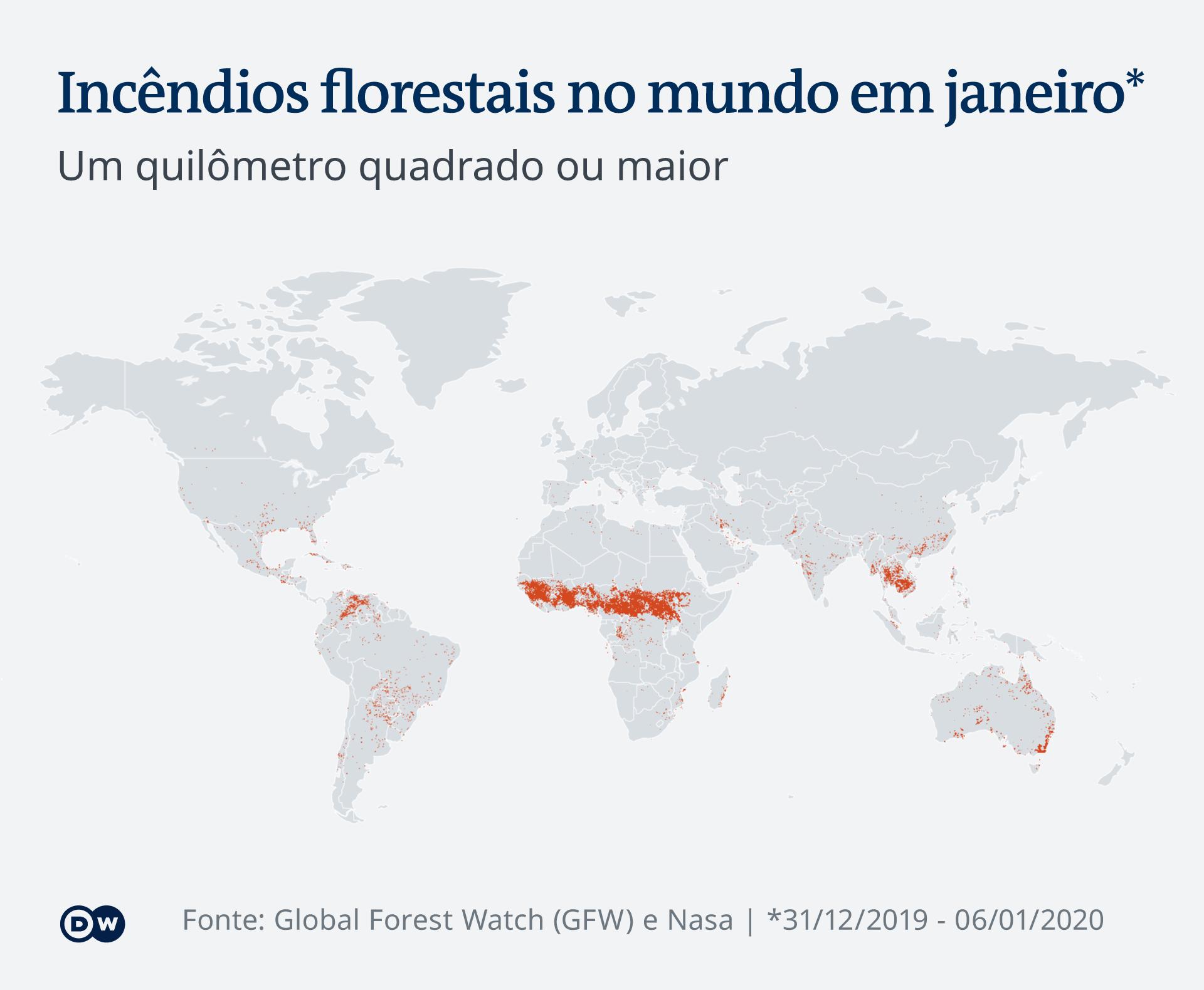 Infografik Waldbrände weltweit PT