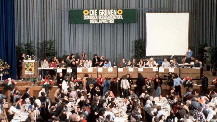 Deutschland Gründungsparteitag der Grünen in Karlsruhe