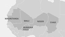 Infografik Karte Sahel-Staaten EN