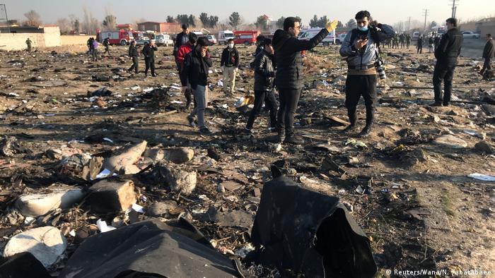 محل سقوط هواپیمای مسافربری اوکراینی در جنوب غرب تهران