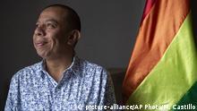Guatemala Aldo Davila, erster offen homosexueller Kongressabgeordneter