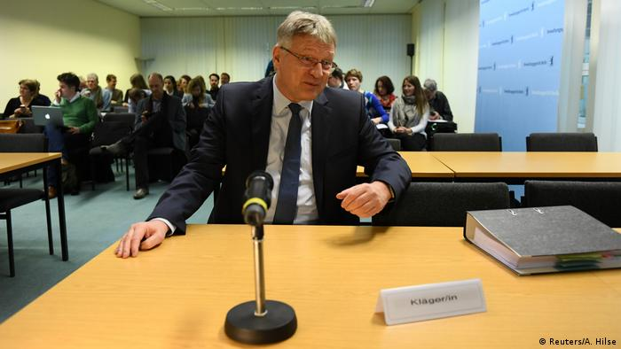 Jörg Meuthen at the Berlin hearing