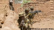 February 26, 2019 - Bobo-Dioulasso, Burkina Faso - Soldiers from Cameroon, Niger and Burkina Faso take part in simulated hostile village combat training alongside soldiers from Burkina Faso and Niger during Exercise Flintlock 2019 February 25, 2019 in Bobo-Dioulasso, Burkina Faso. Flintlock is a multi-national exercise consisting of 32 African and Western nations at multiple locations in Burkina Faso and Mauritania |