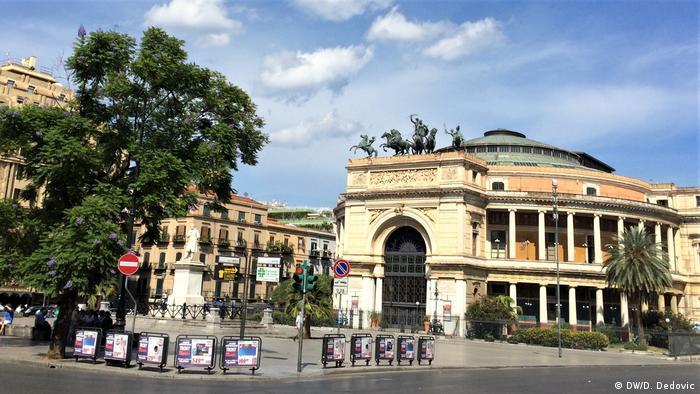 Italien Palermo   Piazza Ruggero Settimo Palermo