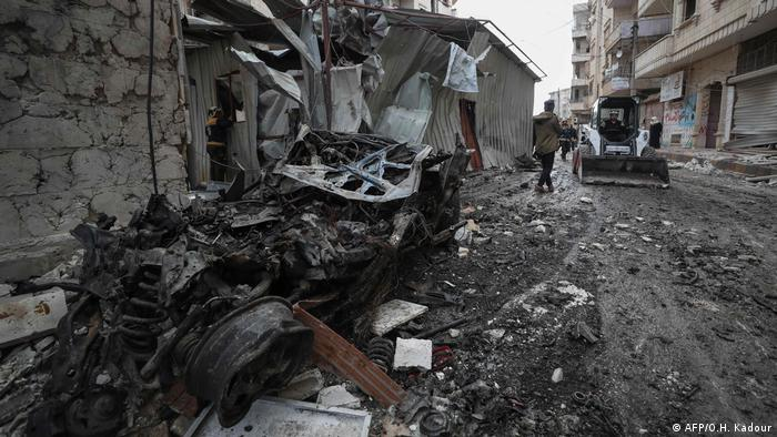 Syien Ariha Idlib-Provinz nach Luftangriffen