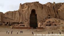 Die leere Höhle der berühmten Buddha-Staue von Bamiyan, Afghanistan