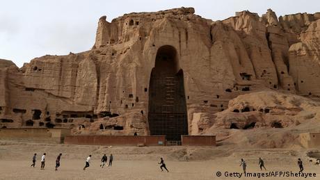 Die leere Höhle der berühmten Buddha-Statue von Bamiyan, Afghanistan