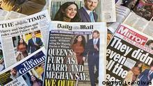 London britische Tageszeitungen zu Prinz Harry und Herzogin Meghan