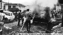 Nigerianische Truppen nähern sich der Hauptstadt von Biafra Umuahia 1969