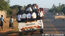 9.1.2020, Inhambane, Mosambik, Straßen überfüllt, beschädigt, gefährlich... der Transport in Inhambane ist ein großes Risiko.