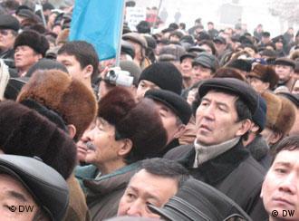اعتراض شهروندان قزاق علیه سرکوب و فشار