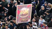 Demonstration in Teherean nach dem Mord an Qasem Soleimani