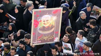 Demonstration in Teherean nach dem Mord an Qasem Soleimani