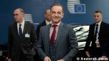 Brüssel Belgien | Sondersitzung der Außenminister - Heiko Maas