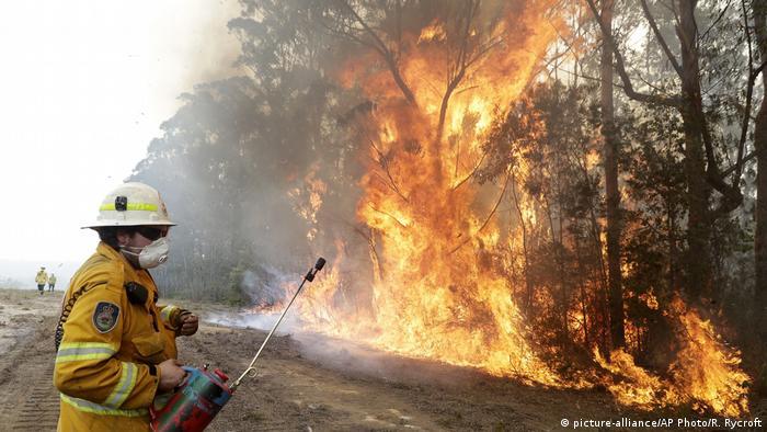 Foco de incendio cerca de Tomerong, Australia.
