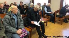 9.1.2020, Minsk, Weißrussland, Die Gegner einer Integration von Weissrussland mit Russland vor Gericht