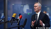 Brüssel Belgien | Sondersitzung der Außenminister - NATO Generalsekretär Jens Stoltenberg