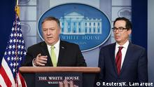 Washington PK Pompeo Mnuchin Sanktionen Iran