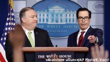 Washington PK Pompeo Mnuchin Sanktionen Iran