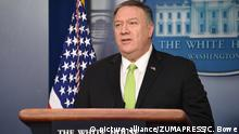 January 9, 2020: 1/510/20 -The White House Washington, DC..Secretary of State Mike Pompeo and Treasury.Secretary Steve Mnuchen speak to the press in the White House Briefing Room about how the U.S. plans to deal with Iran. Pompeo answers questions. (Credit Image: © Christy Bowe/ZUMA Wire |
