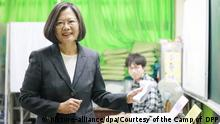 Taiwan Präsidentschaftswahl | Tsai Ing-Wen (picture-alliance/dpa/Courtesy of the Camp of DPP)
