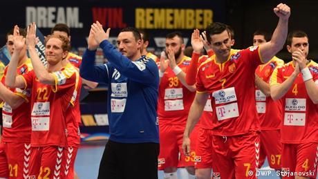 Handball-EM | Nord-Mazedonien vs. Ukraine (DW/P. Stojanovski)