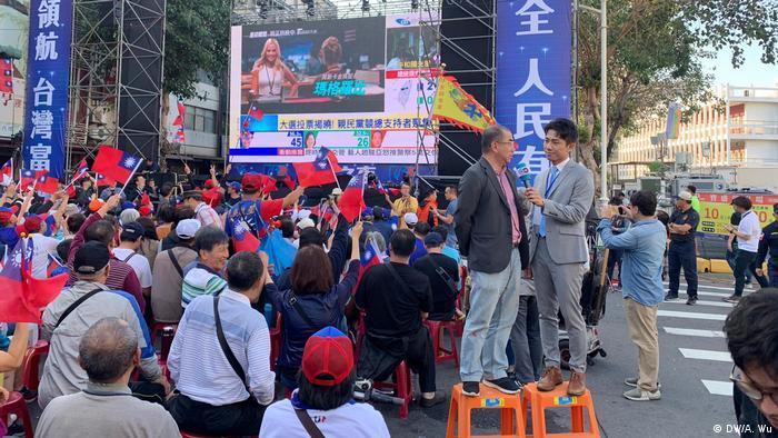 Taiwan Präsidentschaftswahl 2020   Kuomintang-Parteizentrale, Stimmauszählung, Medien (DW/A. Wu)