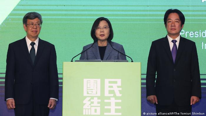 Präsidentenwahl in Taiwan Tsai Ing-wen (picture alliance/AP/The Yomiuri Shimbun)