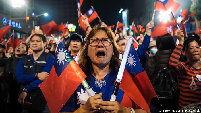 Taiwan Präsidentschaftswahl 2020   KMT Anhänger