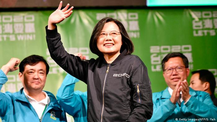 Taiwan Präsidentschaftswahl 2020 | Tsai Ing-wen (Getty Images/AFP/S. Yeh)