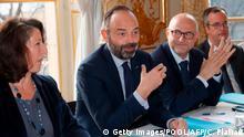 Frankreich Proteste gegen Rentenreform Premierminister Edouard Philippe