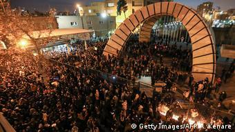 Teheran Universität Studentenproteste Flugzeugabschuß Polizei (Getty Images/AFP/A. Kenare)