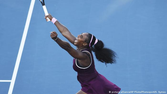 Tennis player Serena Williams at the Auckland Classic