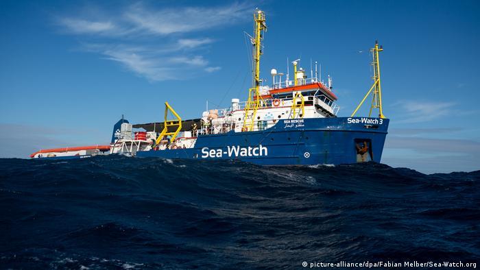 سفينة سي ووتش في البحر المتوسط بعد معادرته جزيرة صقلية يوم 30.12.2019