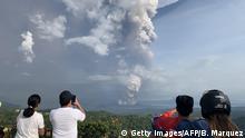 Philippinen Ausbruch Vulkan Taal