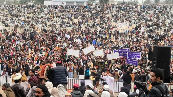 Pakistan   Öffentliche Kundgebung der Bürgerrechtsgruppe PTM