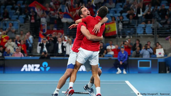 Atp Cup Djokovic Beats Nadal Before Leading Serbia To Win Sports German Football And Major International Sports News Dw 12 01 2020