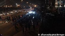 TEHRAN, IRAN - JANUARY 12 : Iranians gather to take part in an anti-government protest around Azadi square in Tehran, Iran on January 12, 2020. Stringer / Anadolu Agency | Keine Weitergabe an Wiederverkäufer.